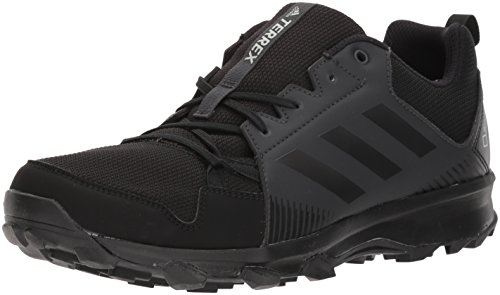 adidas outdoor Men's Terrex Tracerocker GTX Trail Running Shoe, Black/Black/Carbon, 11.5 D US