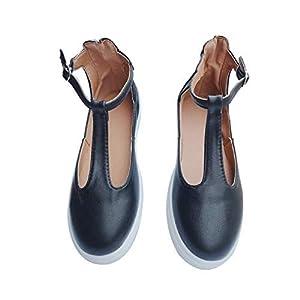 QIMITE Espadrilles,Calzature Donna Vintage Mocassini Solide Scarpe Punta Tonda Piattaforma Fibbia Piatta Cinturino Scarpe Casual Donna Scarpe Singolo