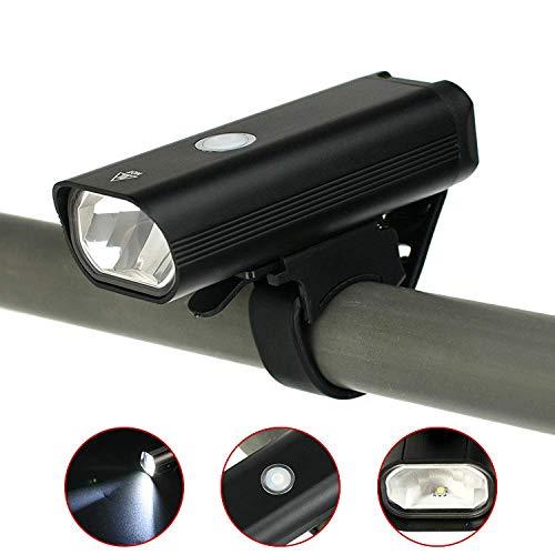 HUANGS USB Wiederaufladbare Fahrradbeleuchtung, StVZO Zugelassen, Leistungsstarke 400 Lumen Scheinwerfer, LED Fahrradscheinwerfer Wasserdicht IP65, Nachtlichter Für Mountainbikes Rennradbeleuchtung