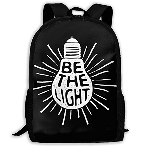 Lawenp Be The Light Travel Laptop Mochila Canvas Casual Bookbag