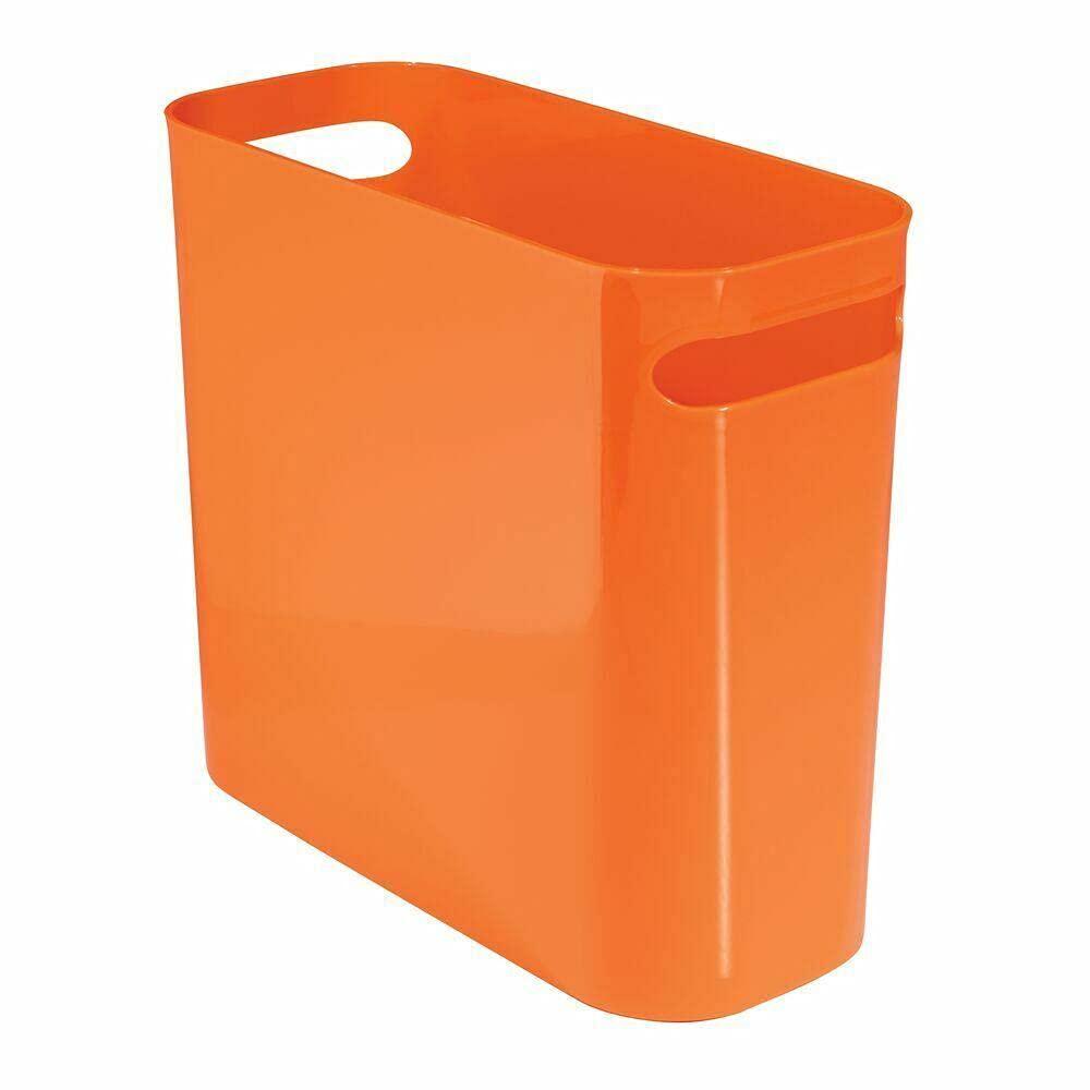 im Max 56% List price OFF Plastic Trash cans Wastebasket with Handles Orange -