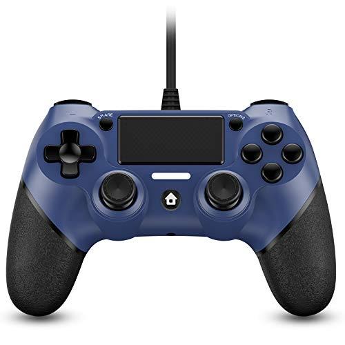 Zexrow Wired Controller für PS4, Wired Game Controller für PlayStation4/Pro/Slim/PC, Gamepad Remote Joystick mit Dual Vibration und mit 2.1m langem USB-Kabel