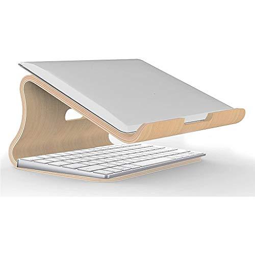 Supporti per notebook Supporto Per Laptop in Legno, Supporto Per Raffreddamento Portatile Per Laptop, Supporto Per Notebook Ventilato Compatibile Con La Maggior Parte Dei 10-17 Pollici Per Laptop, Pc,