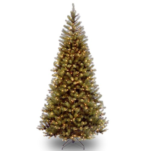 National Tree Company Pre-lit Artificial Christmas Tree | Includes Pre-strung White Lights and Stand | Aspen Spruce - 6 ft