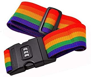 Baggage Password Belt Rainbow Color for Travel Luggage Suitcase Safety Strap-2599