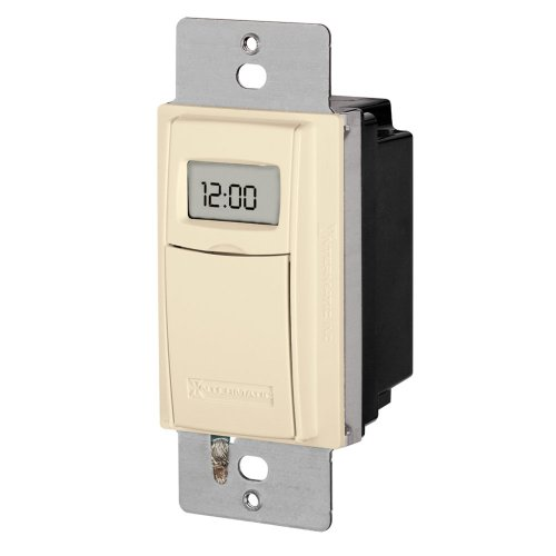 Intermatic ST01A 7 Day Programmable In Wall Digital Timer Switch for Lights and Appliances Astronomic Self Adjusting Heavy Duty