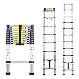 Telescopic Ladder Multi-Purpose Aluminium Telescoping Ladder Extension Extend Portable Ladder Foldable Ladder EN131 and CE Standards (3.2M / 10.5Ft)
