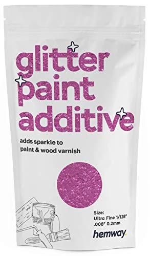 Hemway Glitter Paint Additive Ultrafine 1/128' .008' 0.2MM Emulsion/Acrylic Water Based Paints Wall Ceiling 100g / 3.5oz (Lavender)