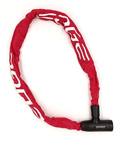 Edge Fahrradschloss, Granito Kettenschloss mit Stahlketten für Fahrrad und Motorrad, 6mm x 1100mm, 870g (Rot)