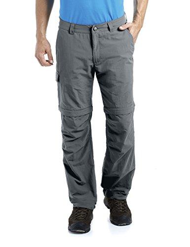 MAIER SPORTS Herren Zipp-Off Hose Trave aus 100% PA in 12 Größen, Funktionshose/ Outdoorhose/ Wanderhose, abzippbar und schnelltrocknend, Grau (graphite), Gr. 52