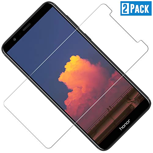 Panzerglas Displayschutzfolie für Huawei Honor 7X, Ultra Dünn HD Transparenz Schutzfolie Anti-Öl, Anti-Kratzer, Blasenfrei, 9H Gehärtetes Glas Displayschutz für Huawei Honor 7X, 2 Stück