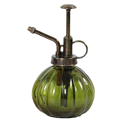 Lumanuby 1 regadera de cristal vintage con forma de calabaza, botella pulverizadora para flores y plantas, decal, riego de jardín, aprox. 250 ml