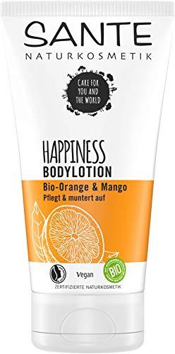 SANTE Naturkosmetik HAPPINESS Bodylotion, mit Bio-Orange & Mango, Pflege für jede Haut, natürlich fruchtig, vegan, 150 ml