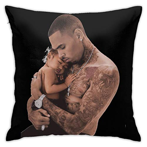 NOBRAND Chris Brown - Funda de almohada duradera para sofá o dormitorio