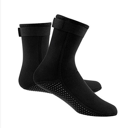 SJHFG Calcetines de buceo cálidos antideslizantes resistentes al agua de tubo largo para buceo, calcetines de buceo transpirables, zapatos de natación descalzo, XL