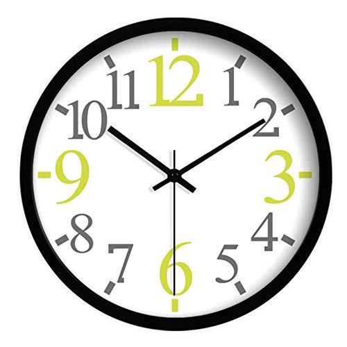 reloj de parede Reloj de 14 Pulgadas de 14 Pulgadas Que no Funciona con Pila de batería Sala de Estar Cocina Creativa Simple número Grande de Metal