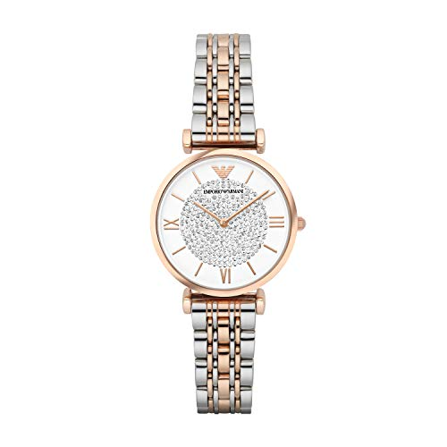 Emporio Armani Damen Analog Quarz Uhr mit Edelstahl Armband AR1926