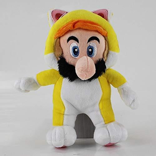 5 Stijl Klassiek Spel Super Mario knuffel Cat Luigi prinses wario Super Mario Bros Knuffel knuffels, geel