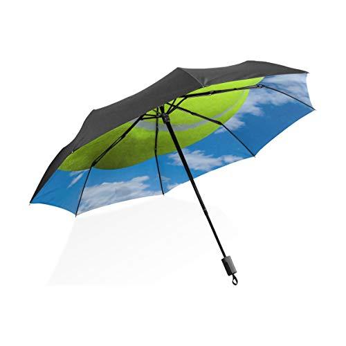 Regenschirm Sport Tennisball Sky Cloud 3 Falten Leichte Anti-UV