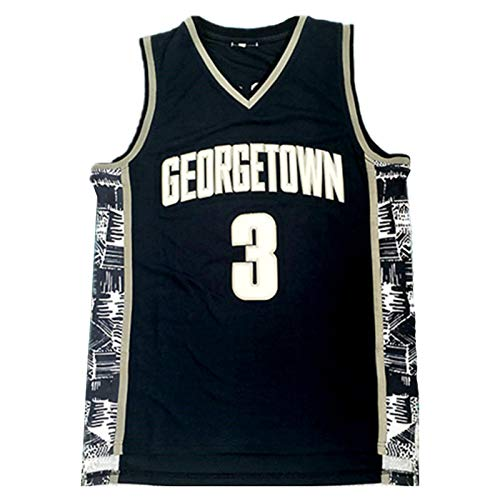 Iverson Jersey de Baloncesto para Hombres, NCAA Camiseta de Entrenamiento sin Mangas, Sudadera universitaria con Letras y números cosidos (S-XXL) Blue-XXL