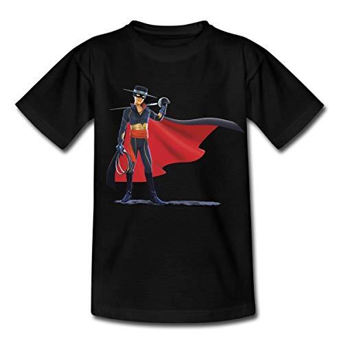 Zorro The Chronicles Mit Degen Und Peitsche Kinder T-Shirt, 110-116, Schwarz