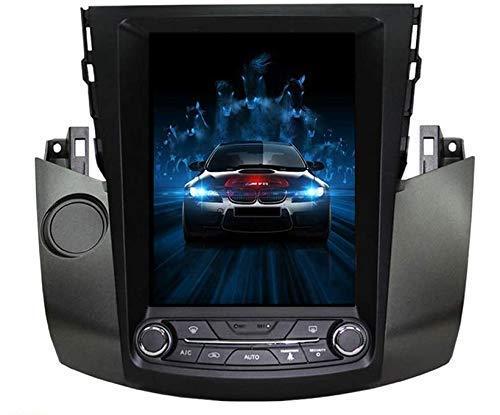 HYDDG Coche GPS Navegación para Toyota RAV4 2003-2012.10.4 '' Unidad de Cabeza Vertical de la Cabeza de la Pantalla del automóvil Sat SETERO Stereo CARPLAY PX6 DSP SWC