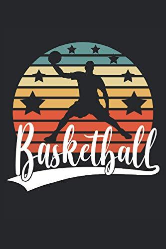 Basketball: Cuaderno de rayas cuaderno de escritura diario libro de tareas libro de cuentos (15,24 x 22,86 cm; ca. A5) 120 páginas. Para los amantes ... dunk slamdunk equipo de baloncesto retro.