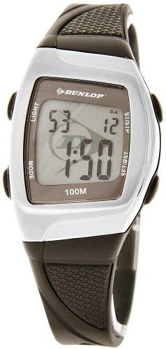 Dunlop DSUCC1 - Reloj digital de mujer de cuarzo con correa de goma marrón (alarma, cronómetro, luz) - sumergible a 100 metros