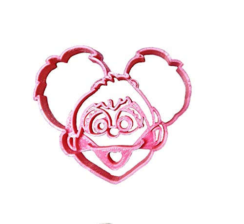 ABBY CADABBY FACE SESAME STREET MUPPET FAIRY IN TRAINING CHARACTER KIDS TV SHOW SPECIAL OCCASION COOKIE CUTTER BAKING TOOL 3D PRINTED MADE IN USA PR2248
