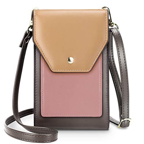 Fanshu - Bolso bandolera para mujer Desigual para teléfono móvil, bolso de mano con bolsillo ligero con ranuras para tarjetas de bolsillo