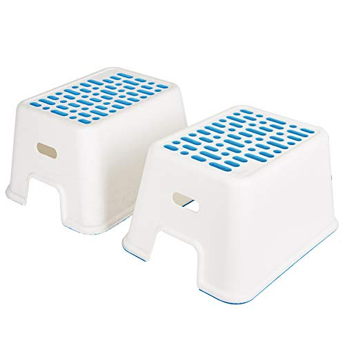 Karmas Product Study Kids Step Stool Kids Best Friends Step Stool for Potty Training Take It Along in Bedroom, Kitchen, Bathroom and Living Room Sturdy Enough to Support Adults White Colour