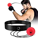 OOTO Upgraded Boxing Reflex Ball, Boxing Training Ball, Mma Speed Training Suitable for Adult/Kids Best Boxing Equipment for Training, Hand Eye Coordination and Fitness. (Red)