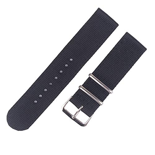 PAZHOU Correa de reloj de 20 mm y 22 mm para Samsung Galaxy Watch 46 mm 42 mm Active2 Active1 Gear S3 Frontier Sports Nylon Nato correa (color de la correa: 13, ancho de la correa: 22 mm)