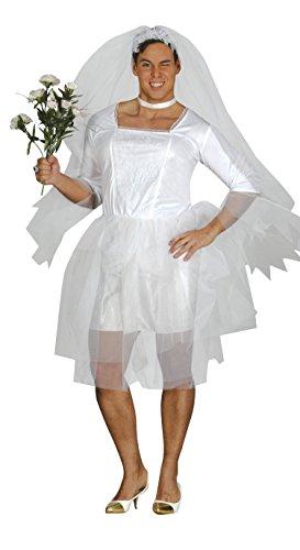 Guirca-84395 Costume Sposa (per Uomo) per Adulti, Bianco, Taglia unica, 84395.0