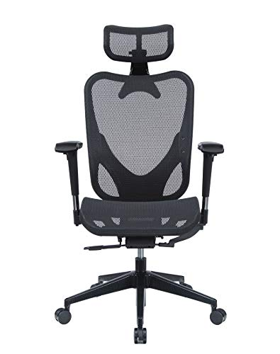 Mesh3 Hyper GTR Ergonomic Office Chair Premium Mesh Seat with Back Support Gaming Chair Fully Adjustable Headrest, Backrest and 4D Armrests for Great Posture BIFMA Black Color HY-105BK