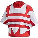 adidas Lrg Logo tee Camiseta de Manga Larga, Mujer, Rojo (Lush Red/White), 44