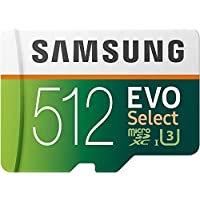 Samsung EVO Select 512GB UHS-I / U3 700x microSDXC Memory Card