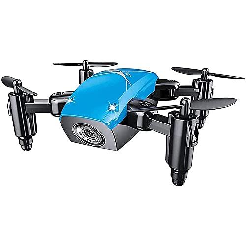 GZTYLQQ Mini Drone, quadricottero WiFi FPV RC con videocamera HD, Drone Pieghevole con Mantenimento dell'altitudine, modalità Senza Testa, Drone Tascabile Selfie per Bambini e Principianti