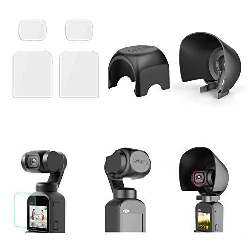 iEago RC Kit de protección para cámara de bolsillo 2: antiarañazos, cubierta para lente de cámara, cubierta de protección solar y película templada, compatible con DJI Osmo Pocket 2 accesorios
