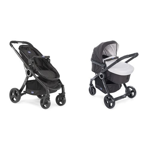 Chicco Urban plus -Carrito transformable en capazo y silla de paseo, color beige/arena