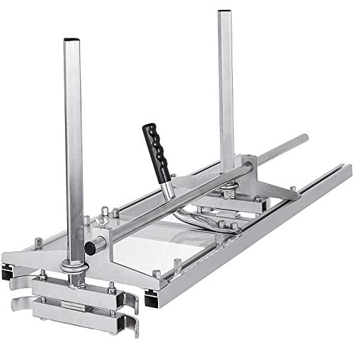 """VBENLEM Chainsaw Planking Milling 14"""" to 36"""" Guide Bar Wood Lumber Cutting Portable Sawmill Aluminum Steel, Sliver"""