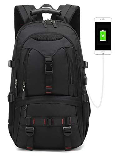 2020 laptop backpack,anti theft with USB Charging Port(Mobile charge)Backpack 17-inch business Travel school Computer backpack for men&women Waterproof college students bag Multiple pockets(black)