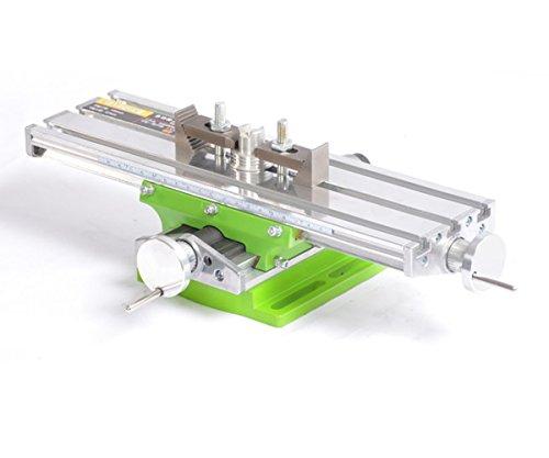 BG6330 Mesa Transversal de Precisión, Tabla Cruzada con Abrazaderas Banco de Tornillo en Cruz de Trabajo para Taladros, Fresadoras, CNC, etc. Superficie de Trabajo de 330 x 95 mm