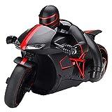 Nixi888 Mando a distancia de 2,4 GHz para coche, gran velocidad, para moto, 20 km/h, para niños, adultos (color: rojo, tamaño: 2 pilas)