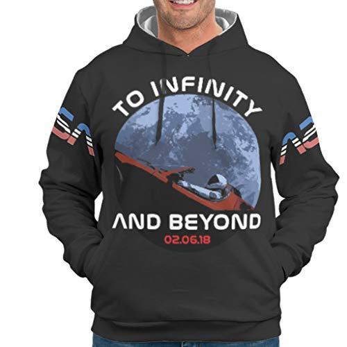 O5KFD & 8 man trui met capuchon mannen/vrouwen Starman Spacex gedrukt grappig - NASA met tas Outdoor Sportblouse White XXL