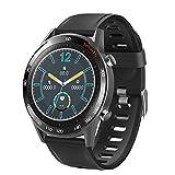 LTLJX Smartwatches, Reloj Inteligente de Medición de Temperatura con Pulsómetro Impermeable IP68 Deportivo Fitness Pulsera Podómetro Monitor de Sueño Cronómetros para iOS Android,Negro