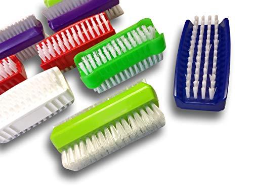Kebros 10 LOTONGC | 10 Stück Nägel | doppelseitiges hartes Nylon | 5 weiche Bürsten | Reinigung der Hände