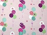 Minerva Crafts Stoff mit Luftballons, Jersey, Meterware,
