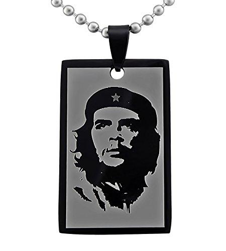 veuer joyas hombre mujer Collar de cadena Che Guevara Libertad Acero Inoxidable Statement Unisex Regalo de navidad para EHE de muñeco o EHE de mujer/Amigo o Freundin/Hombres y Mujeres