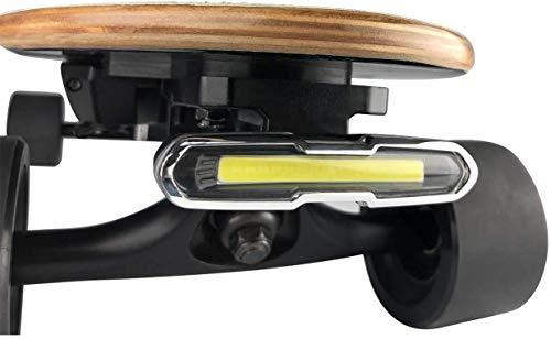 I-WONDER Skateboard Scheinwerfer oder Rücklichter, USB wiederaufladbare sichere Lichter, wasserdichte LED blinkendes Sicherheitsrücklicht, einfach zu installieren für elektrische